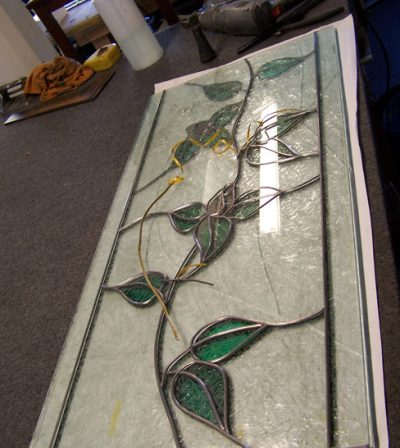 Rose Vine Leadlight Overlay