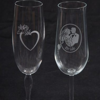 Bridal Party Wine Glasses Gift Set